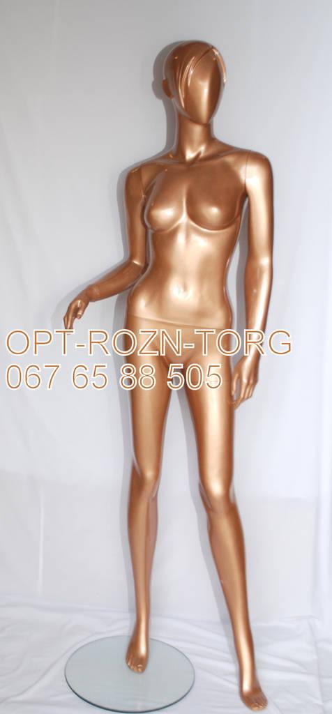 Манекен женский лакированный золотой CW-50