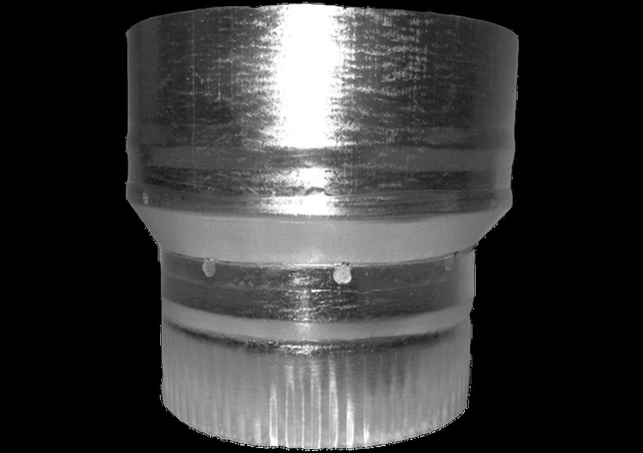 Перехідник з оцинкованого металу 140/120