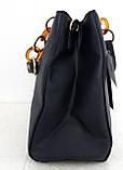 Стильная женская сумка. Эко-кожа Италия Синяя, фото 3