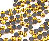Стразы (термо) 6 мм gold 9 шт