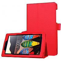 Чехол Lenovo TAB 3 710 / TAB 3 710F Essential / TAB 3 710i / TAB 3 710L / TB 3 710 7'' книжка красный