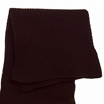 Шарф  женский вязаный  однотонный цвет темно коричневый