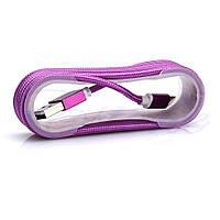 Кабель тканевый на бабине micro USB 1.5метра, №190