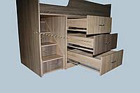 """Кровать-чердак с рабочей зоной """"Лунтик"""" со спальным местом 1800х800, фото 1"""