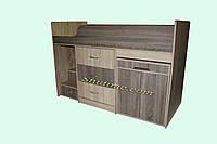 """Кровать с ящиками и столом """"Лунтик"""""""