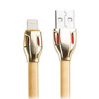 Кабель Remax Laser USB для зарядки iPhone, iPad, iPod с lightning RC-035i - золотой, фото 1