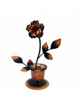 Подсвечник Роза металл подарок