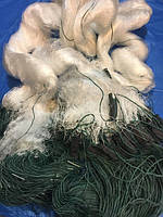 Сеть рыболовная трехстенная(порежная) 3м высота 100м, груз вшит ячейка 45 фирма KAIDA усиленная леска!!