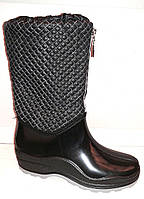 Женские стильные резиновые сапоги Paciotti Украина черные Uk0131