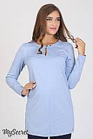 Трикотажная туника для беременных Elve, голубой меланж , фото 1