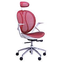 Кресло Lotus, с подголовником кресло, PL белый, да, Красный