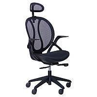 Кресло Lotus, с подголовником кресло, PL черный, да, Черный