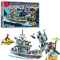 """Конструктор 819 BRICK """"Военный корабль"""", 505 деталей"""