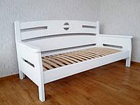 """Детская белая кровать из серии """"Луи Дюпон"""". Массив - сосна, ольха, береза, дуб."""
