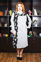 Платье большого размера Ромашка супер батал
