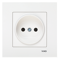 Розетка VIKO Karre (без заземления) белая