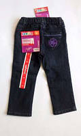 Джинсы на подкладке фирменные для девочки теплые на девочку коттон