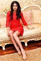 Женское кружевное платье Коктейльное