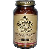 Solgar, Расширенный Комплекс Кальций + Витамины D3, К2, Цинк, Бор, 120 Таблеток, фото 1