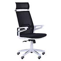 Компьютерное кресло Tesla кресло, Cетка черная, каркас белый