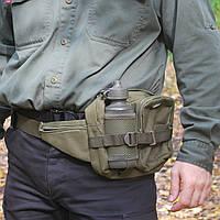 Сумка тактическая поясная MFH 30943B с флягой олива