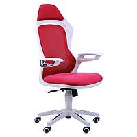 Геймерское кресло Spider GTX  сетка красная, каркас белый