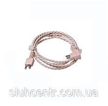 Провід для слухового апарату 2 pin на одне вухо