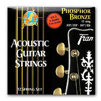 Струны для акустической гитары FRAMUS 47240 PHOSPHOR BRONZE LIGHT 12STRING (10-47)