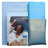 Мини парфюм 20 мл в кожаном чехле D@G Light Blue Pour Femme