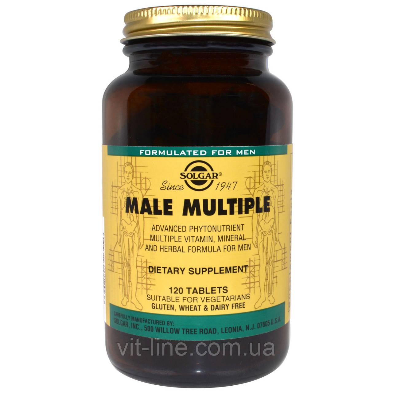 Витамины для мужчин Solgar, Male Multiple, 120 Tablets