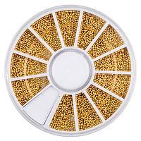 Декор в каруселе, бульонки металлические ,золотые