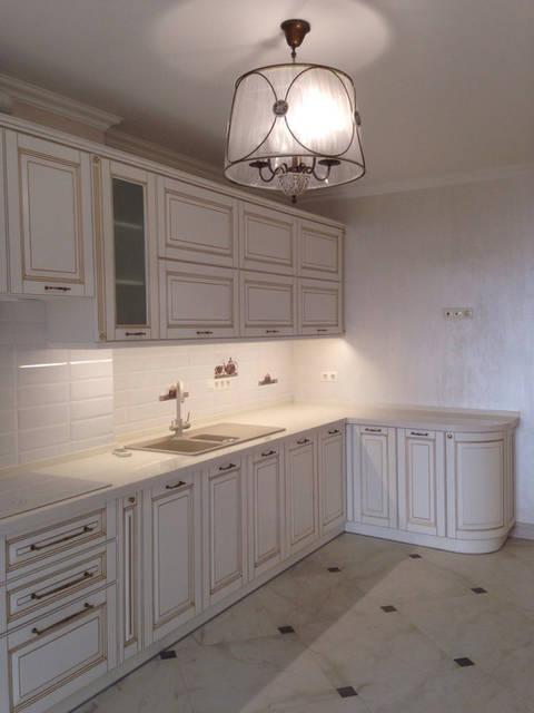 Классическая белая кухня 6
