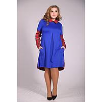 Женское яркое платье в клетку Ариана размер 48-72 / для полных девушек