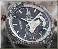 Мужские наручные  стильные механические часы TAG Heuer Grand Carrera Calibre 36 RS (Гранд каррера)
