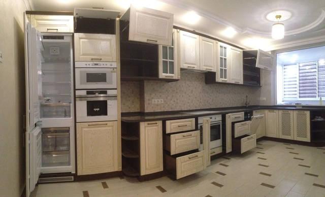 Комбинированная кухня в классическом стиле 5
