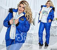 Тёплый женский костюм Таня 48-52 р, фото 1