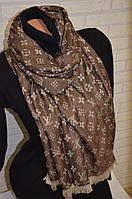 Палантин шарф в стиле Louis Vuitton (Луи Витон) бежево-коричневый