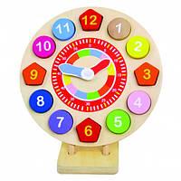 Деревянные часы на подставке, Bino