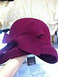 Фетровий капелюшок із складками і бантом, фото 9