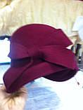 Фетровий капелюшок із складками і бантом, фото 8