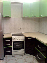Кухня с комбинироваными фасадами 1