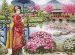 "Набор для вышивания ""Японский сад (The Japanese Garden)"" ANCHOR MAIA"