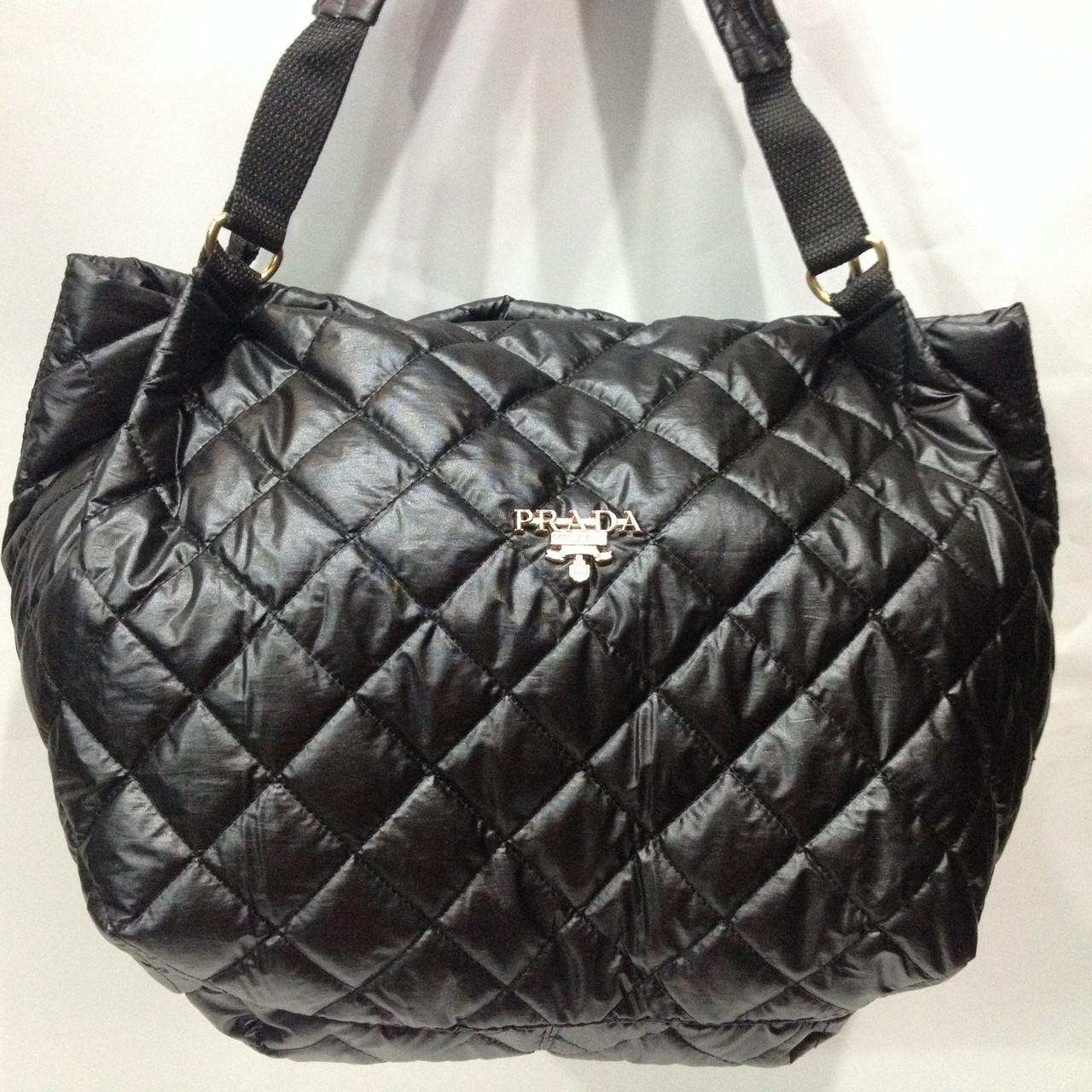 85c4a9d2b698 Женская стильная черная сумка стеганая PRADA оптом : продажа, цена в ...