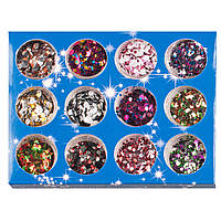 Цветные конфетти для дизайна ногтей