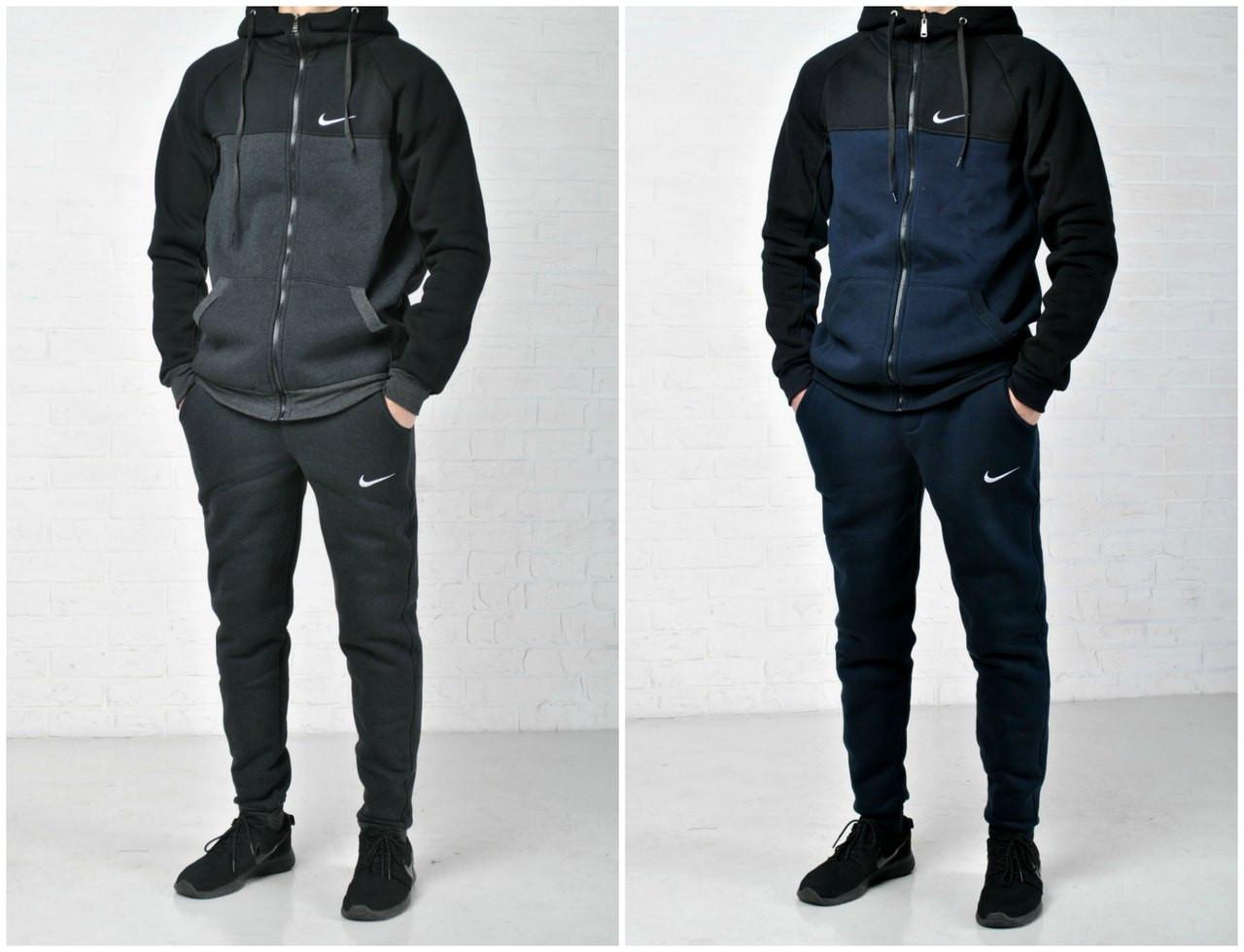 1a13d6c9309e Утепленные мужские спортивные костюмы Nike осень зима утепленные с  капюшоном р-ры S M L XL