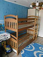 Кровать Денис цвет 101 з масиву бука
