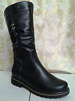 Зимние женские чёрные сапоги Romax