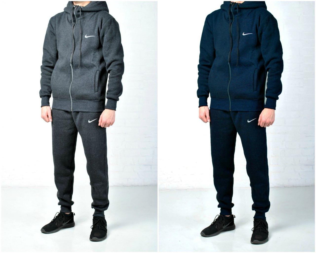 73253e7692c Утепленные мужские спортивные костюмы Nike осень зима утепленные с  капюшоном р-ры S M L XL