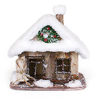 Новогодний декор Домик в снегу 23см
