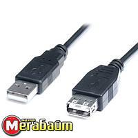 Кабель REAL-EL USB2.0 AM-AF 3.0M чорний